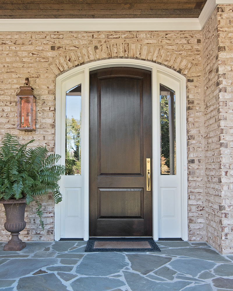Rich elegant front door